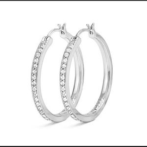Origami Owl Swavorski Crystal Hoop Earrings